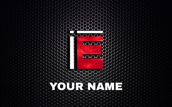 E letter logo by B jeh