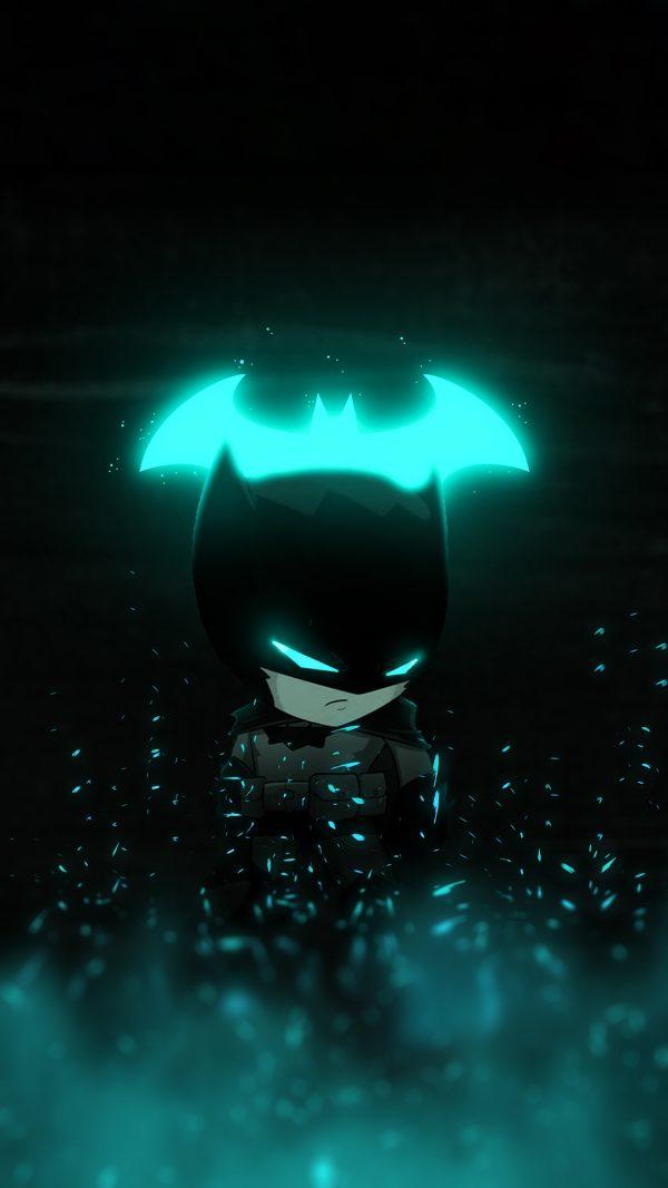 cyan-glowing batman wallpaper-by-@bjehs_