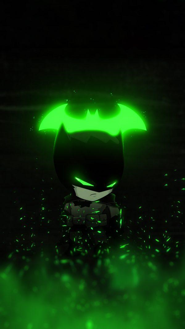 green-batman-glowing wallpaper by-@bjehs_