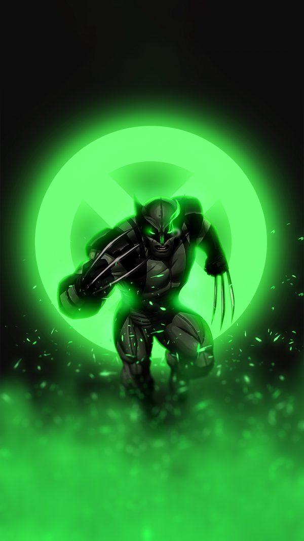Green glowing wolverine wallpaper by @bjehs_