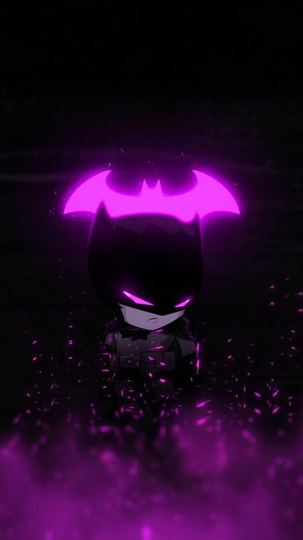 Purple Batman Glowing Wallpaper by bjehs
