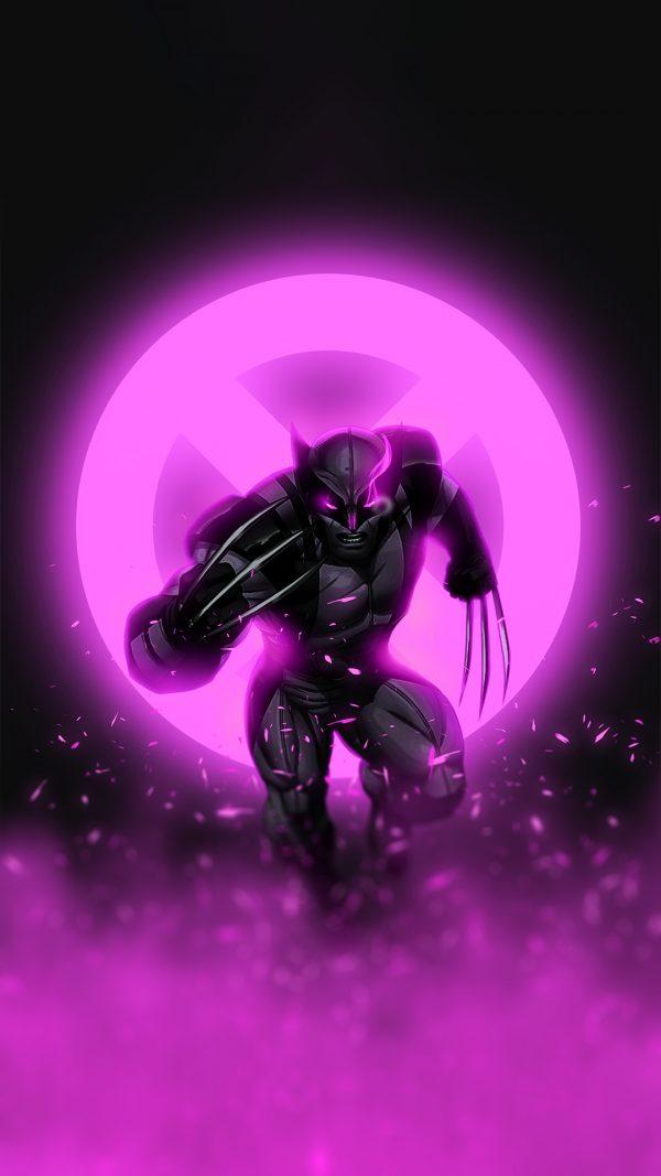 purple glowing wolverine wallpaper by @bjehs_
