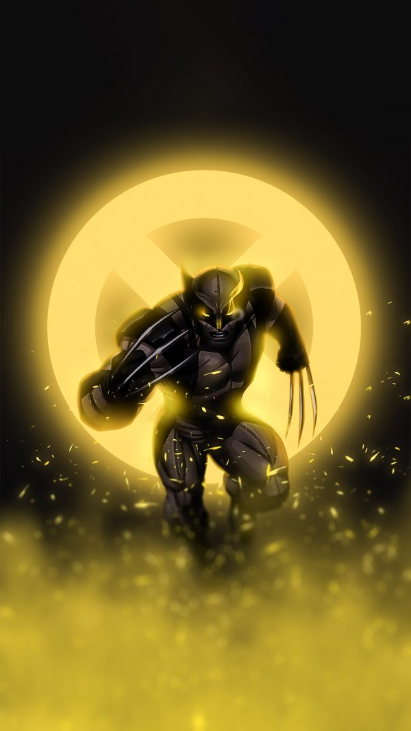 Yellow glowing wolverine wallpaper by @bjehs_